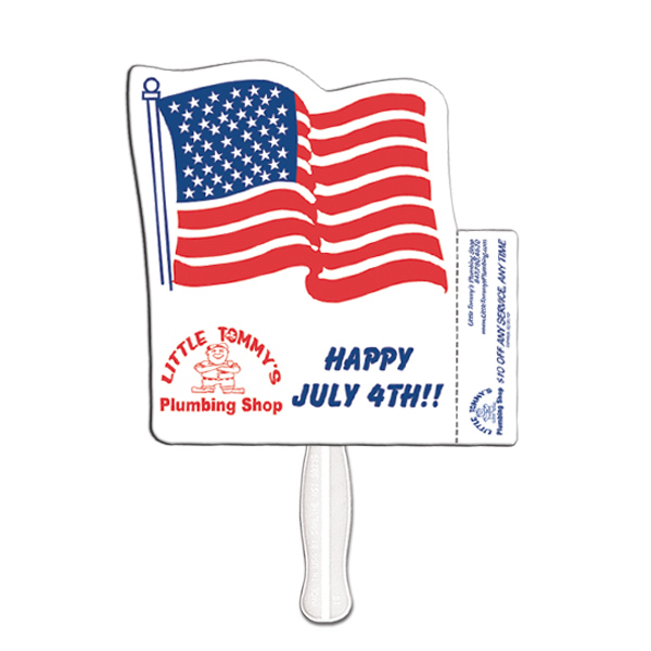 Customized Flag coupon fan