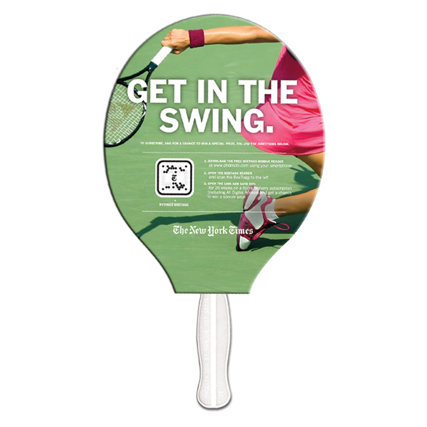 Customized Tennis Racquet sandwiched digital fan