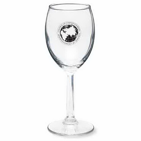 Personalized Napa 8 oz White Wine Glass
