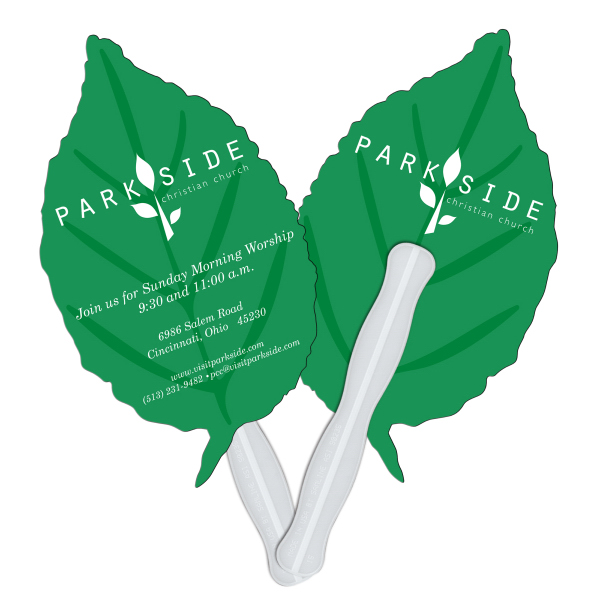 Imprinted Leaf fast fan