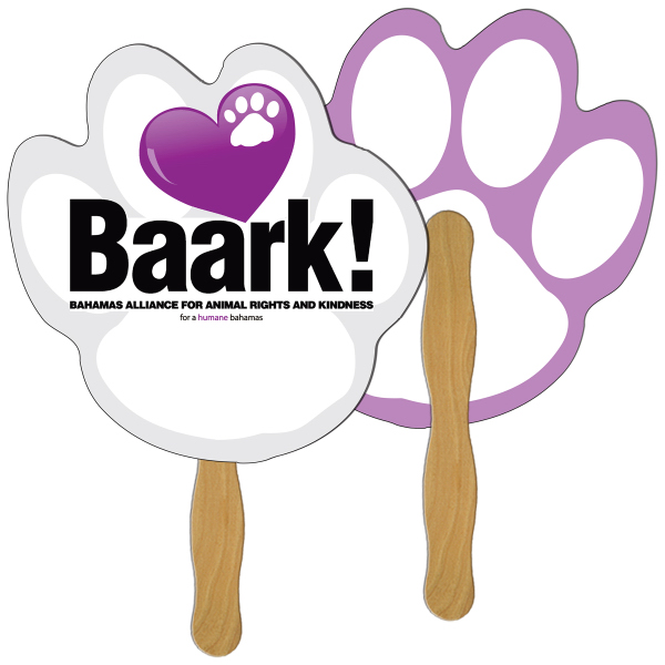Customized Paw Print fast fan