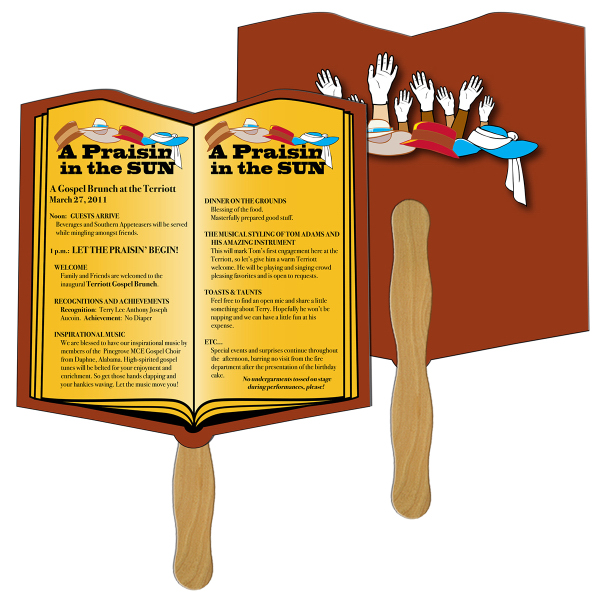 Personalized Open Book Fast Fan