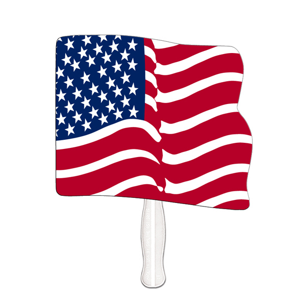 Imprinted Flag fast fan