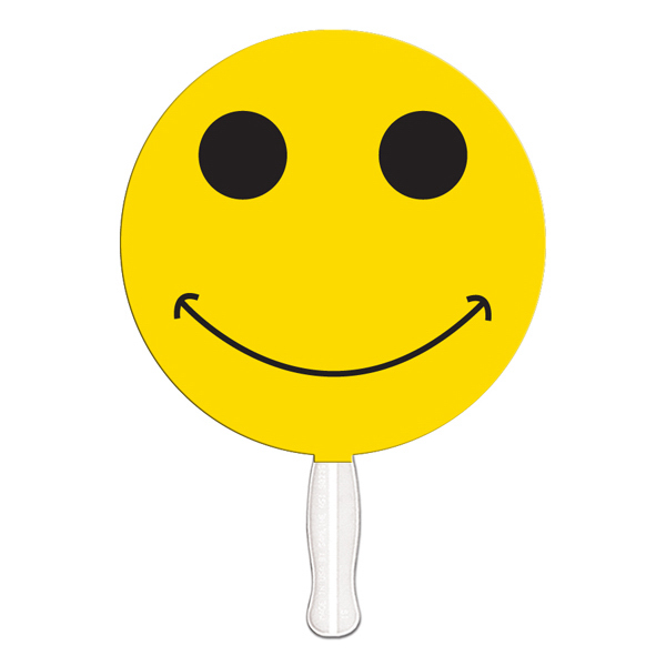 Imprinted Smiley Face digital econo fan