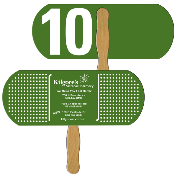 Personalized Bandage/Pill Digital auction fans