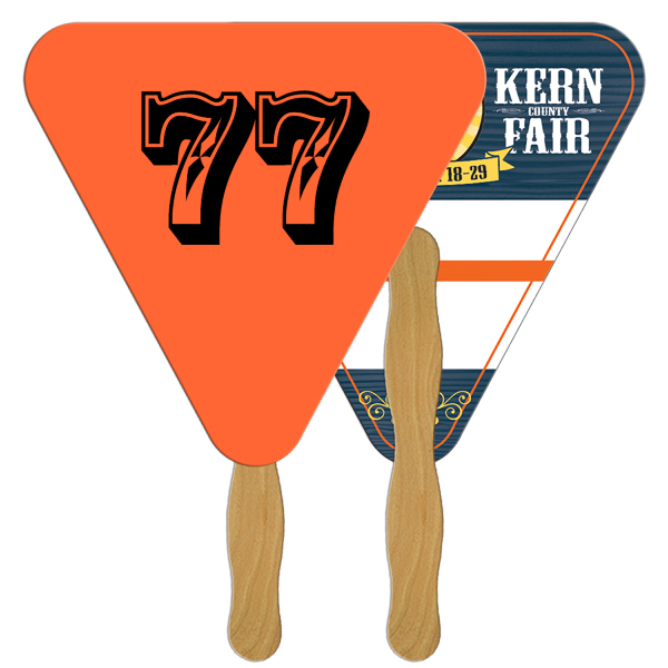 Promotional Triangle Digital auction fans