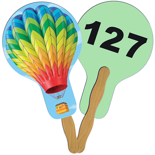 Customized Balloon/Light Bulb Digital auction fans