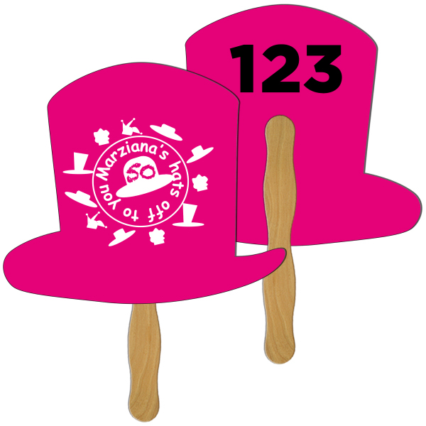 Custom Top Hat Digital auction fans