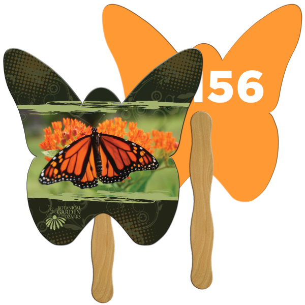 Promotional Butterfly Digital auction fans
