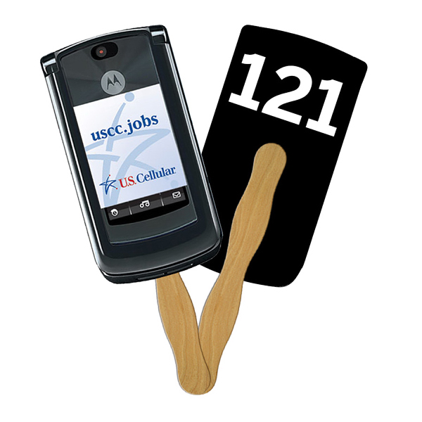 Imprinted Cell Phone Digital auction fans