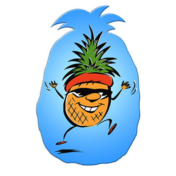 Promotional Pineapple window signs