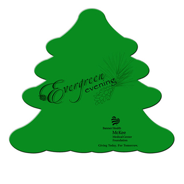 Imprinted Evergreen window signs