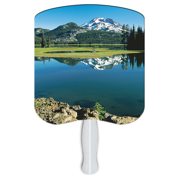 Personalized Mountain Scene stock fan