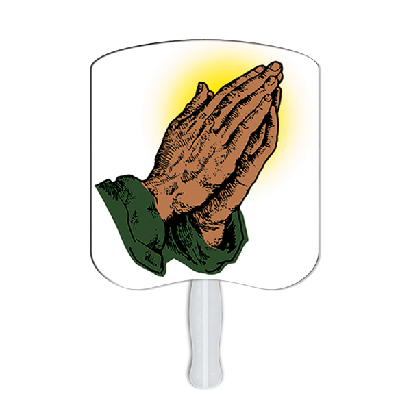 Promotional Praying Hands stock fan