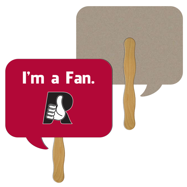 Imprinted Square Thought Bubble recycled stock fan