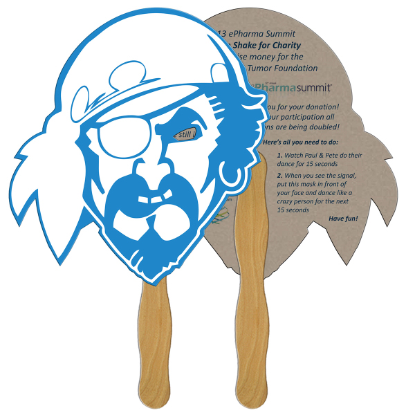 Promotional Pirate recycled stock fan