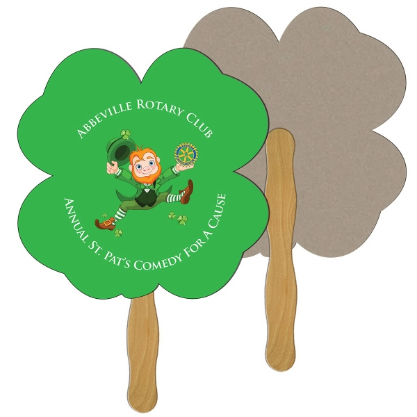 Imprinted Clover recycled stock fan
