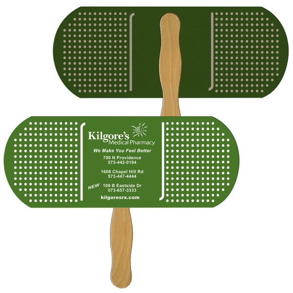 Printed Bandage/Pill recycled stock fan
