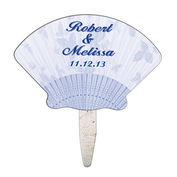 Imprinted Shell seed stick mini fan