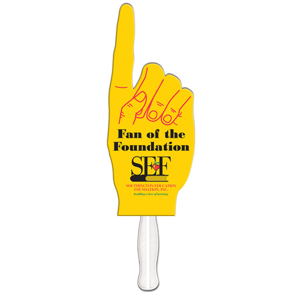 Imprinted Big finger special shape fan