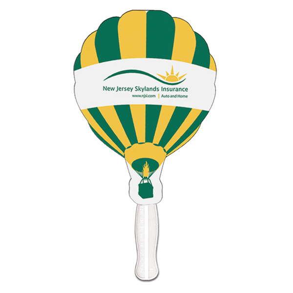Imprinted Hot Air Balloon sandwiched offset fan