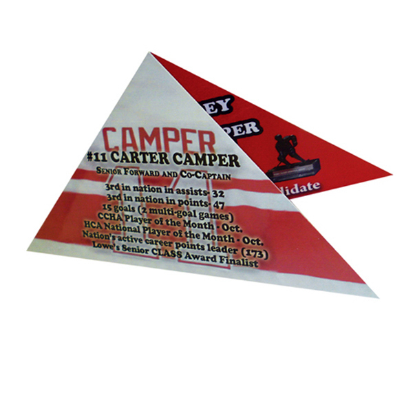 Imprinted Triangle table tent