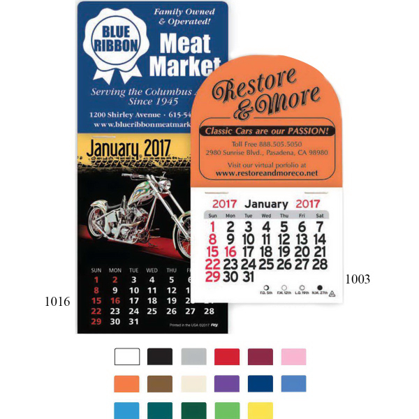 Printed Magnetic Billboard Peel-N-Stick (R) Calendar