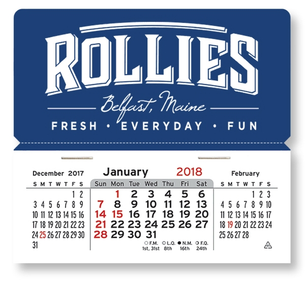 Imprinted Magnetic Mega Peel-N-Stick (R) Calendar