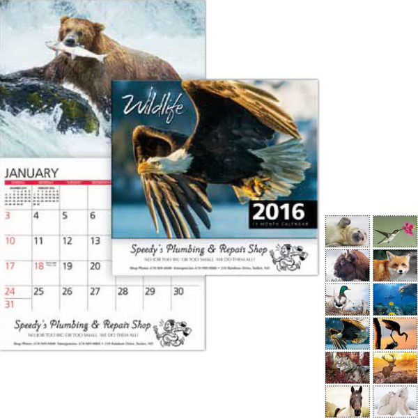 Custom Wildlife Wall Calendar