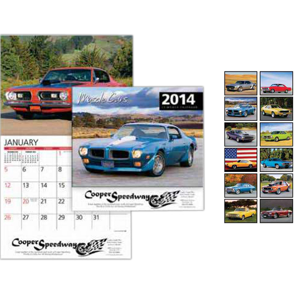 Custom Muscle Cars Wall Calendar
