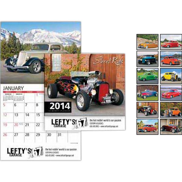 Promotional Street Rods Wall Calendar