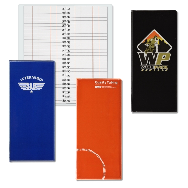 Imprinted Wire-O Tally Book