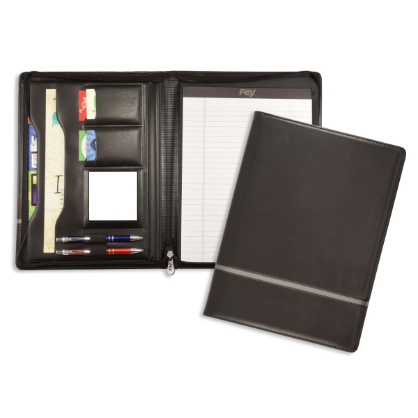 Customized Chartwell Zippered Padfolio