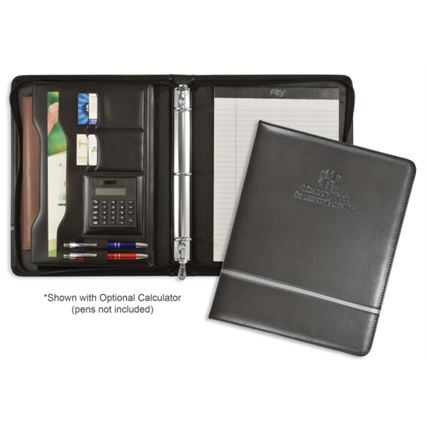 Promotional Chartwell Zippered Ringfolio