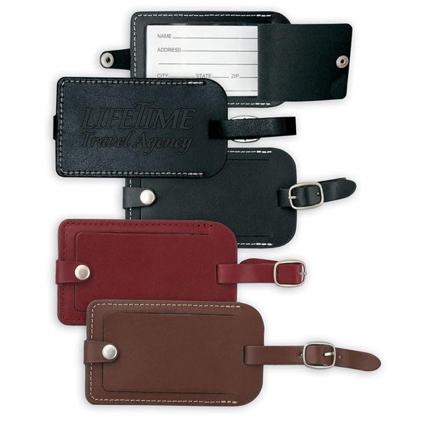 Personalized Vintage Leather Luggage Tag