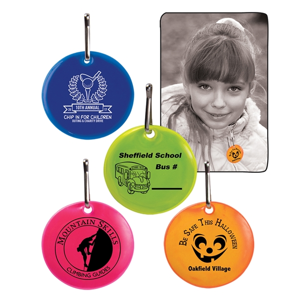 Printed Round Reflective Zipper Pulls