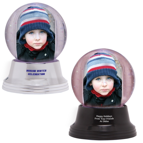 Imprinted Small Light Up Snow globe