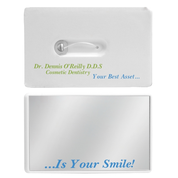Personalized Credit Card Dental Floss w/Mirror