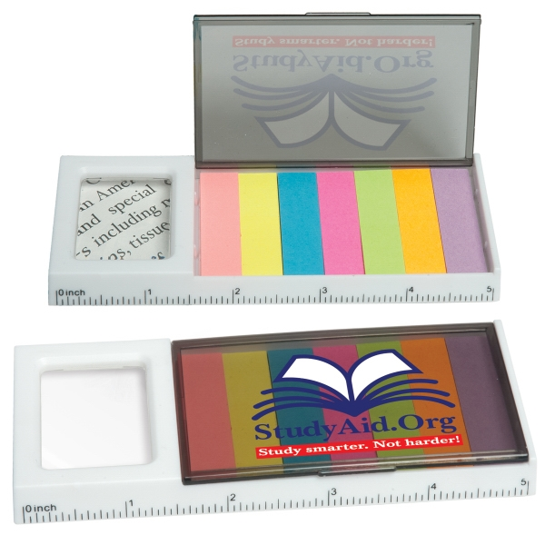Customized Sticky Flag Magnifier and Ruler