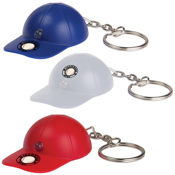 Customized Light Up Baseball Hat Key tag