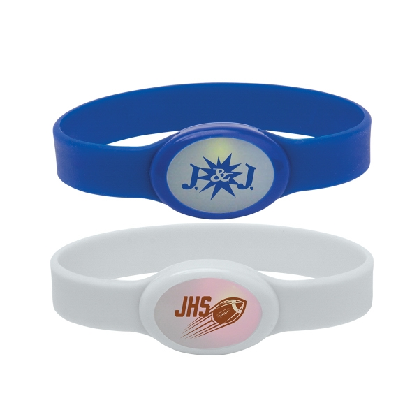 Personalized Light Up Silicone Bracelet