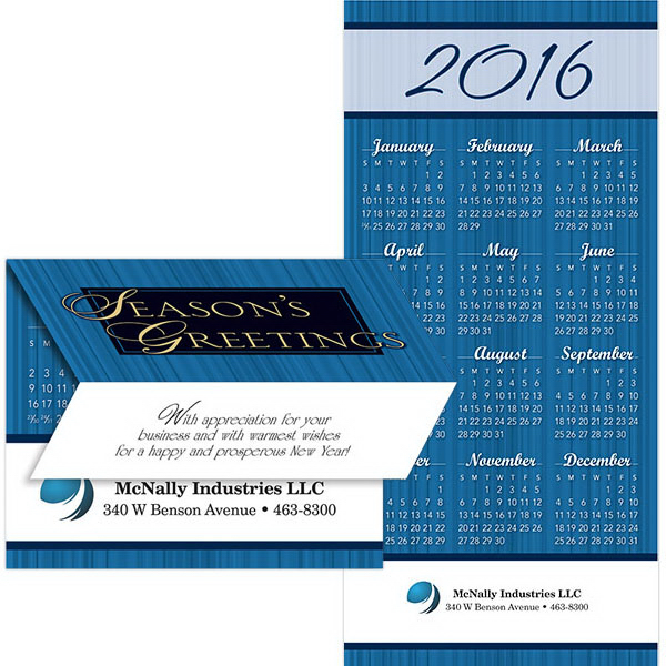 Imprinted 2-in-1 Executive Greeting Card/Calendar