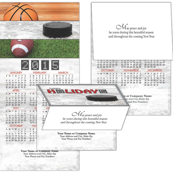 Printed 2-in-1 Outdoor Sports Greeting Card/Calendar