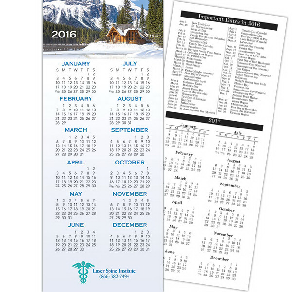 Imprinted Economy Collection 2-sided Scenic Calendar