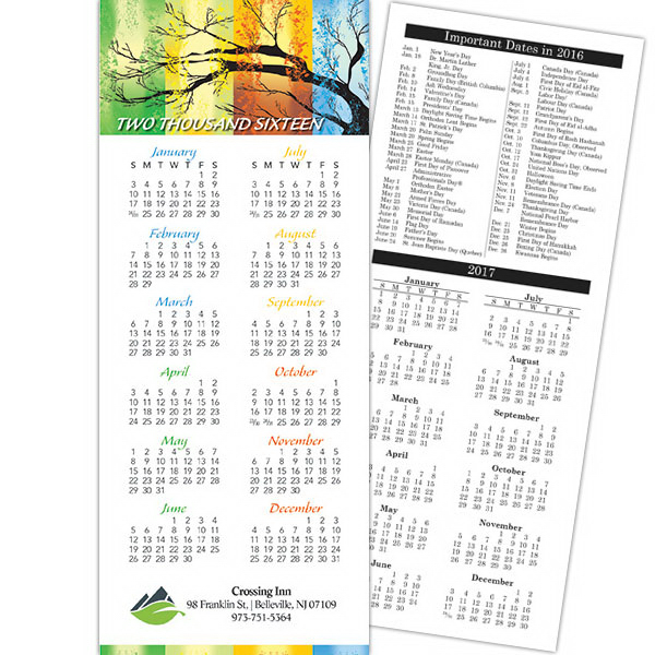 Personalized Economy Collection Four Seasons Vertical Calendar Card