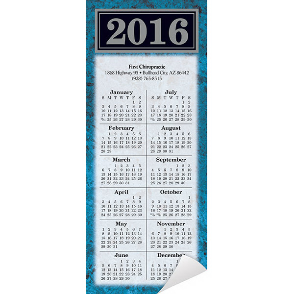 Customized Economy Collection Magnetic Marble Calendar