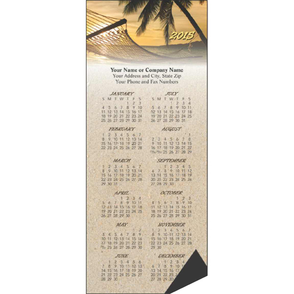 Printed Economy Collection Magnetic Sunset Calendar