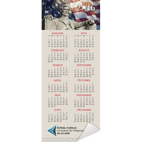 Custom Economy Collection Patriotic Vertical Magnetic Calendar
