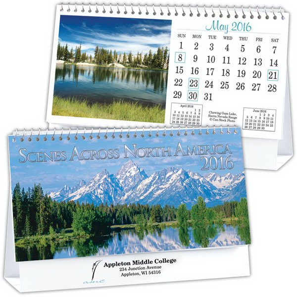 Promotional Kingswood Collection Standard Desk Calendar