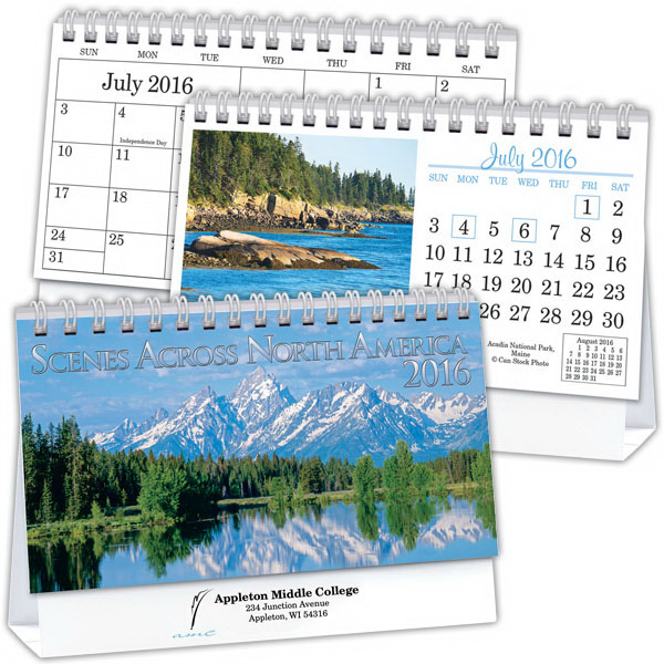 Imprinted Deluxe Desk Calendar